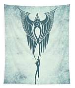 Blue Flight Contemporary Minimalism Tapestry