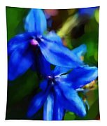 Blue Flower 10-30-09 Tapestry