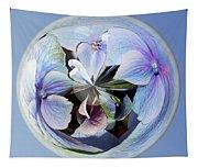 Blue Flower Orb Tapestry