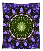 Blue Flowers Kaleidoscope Tapestry