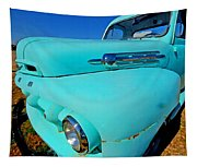 Blue Ford Pickup Truck Tapestry