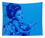 Blue Geisha Tapestry