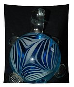 Blue Glass Turtle Tapestry