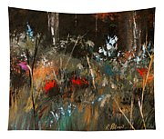 Blue Grass And Wild Flowers Tapestry