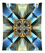 Blue, Green And Gold Abstract Tapestry
