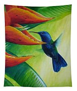 Blue-headed Hummingbird Tapestry