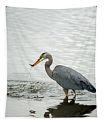 Blue Heron Fishing Tapestry