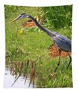 Blue Heron Scene Tapestry