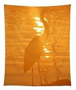Blue Heron Sunrise Tapestry