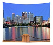 Blue Hour In The Steel City Tapestry