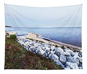 Blue Hour On Choctawhatchee Bay Tapestry