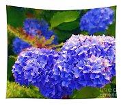Blue Hydrangea Tapestry