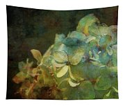 Blue Hydrangea Sunset Impression 1203 Idp_2 Tapestry