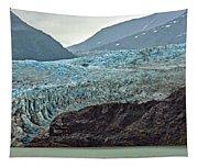 Blue Ice In Fog Tapestry