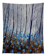 Blue In The Wood Tapestry