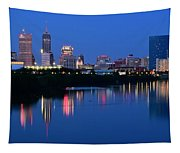 Blue Indianapolis Tapestry