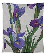 Blue Iris Tapestry