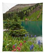 Blue Lakes Summer Portrait Tapestry