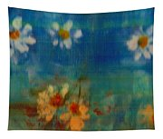 Blue Landscape In Oil Tapestry