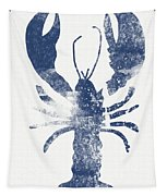 Blue Lobster- Art By Linda Woods Tapestry