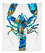 Blue Lobster Art By Sharon Cummings Tapestry