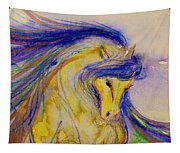 Blue Mane And Tail Tapestry