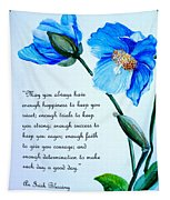 Blue Meconopsis Poppy Tapestry