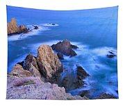 Blue Mermaid Reef At Sunset Tapestry