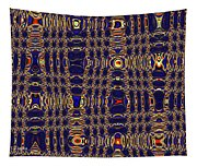 Blue Moon Abstract Tapestry