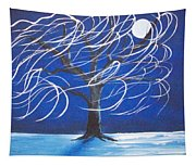 Blue Moon Willow In The Wind Tapestry