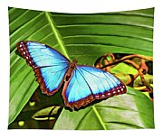Blue Morpho Butterfly 2 - Paint Tapestry