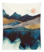 Blue Mountain Reflection Tapestry