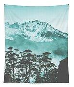 Blue Mountain Winter Landscape Tapestry