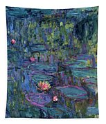 Blue Nympheas Tapestry
