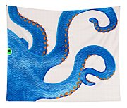 Blue Octopus Tapestry