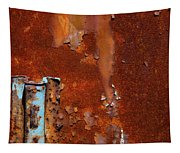 Blue On Rust Tapestry