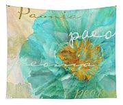 Blue Peony Tapestry