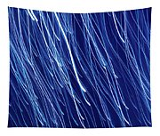 Blue Rain Abstract Tapestry