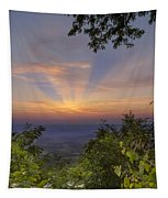 Blue Ridge Mountain Sunset Tapestry