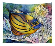 Blue Ring Angelfish Tapestry