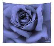 Blue Rose Abstract Tapestry
