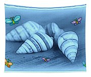 Blue Seashells Tapestry
