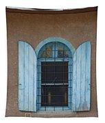 Blue Shutters Tapestry