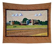 Blue Silo-marquetry Tapestry