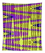 Blue Sky And Color Squares Abstract,#4 Tapestry