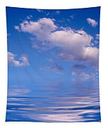 Blue Sky Reflections Tapestry