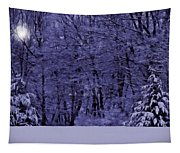 Blue Snow Tapestry