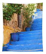 Blue Stairs Tapestry