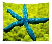 Blue Starfish On Poritirs Tapestry