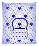 Blue Teapot - Kitchen Tapestry